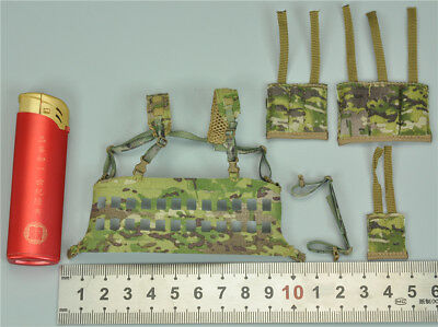 EF015 TACTICAL MOLLE CHEST RIG Y02-31 1//6scale DAMTOYS FIREARMS SERIES  3