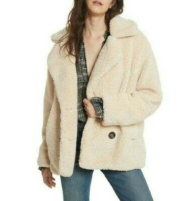 eaffefbd0 FREE PEOPLE TEDDY Fuzzy Aviator Bomber Jacket Zip Up - $40.00 | PicClick