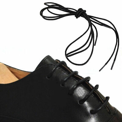 Waxed Cotton Thin Round Shoelaces 80cm Dress Wax Cord Laces Brogues Shoes Best