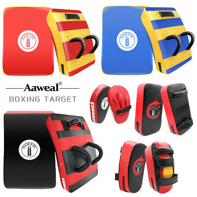 RDX Mitts Boxing Focus Pads Training Strike Pad MMA Muay Thai Punch Curved Kick♡