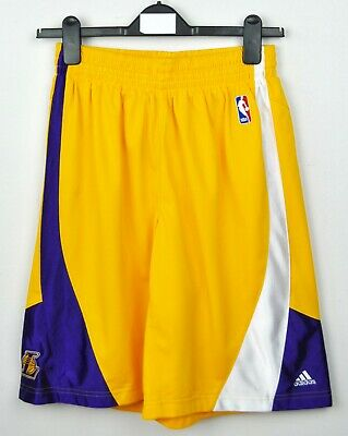 LAKERS Basketball Shorts Adidas NBA W28 W30 W32 Small Men's Casual S