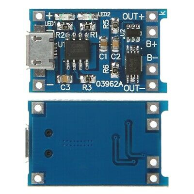 Lithium Battery Charge+Protection 2-In-1 Circuit Board 5V 1A 2A Micro USB Module
