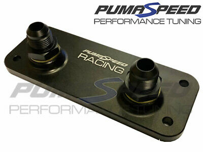 Pumaspeed Racing Volvo C30 C70 S40 V50 T5 Remote Oil Cooler Adapter Plate