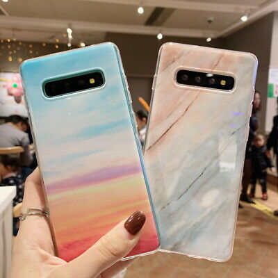 Marble Pattern Soft Silicone Case Cover For Samsung Galaxy S10 Plus 10e A50 A30