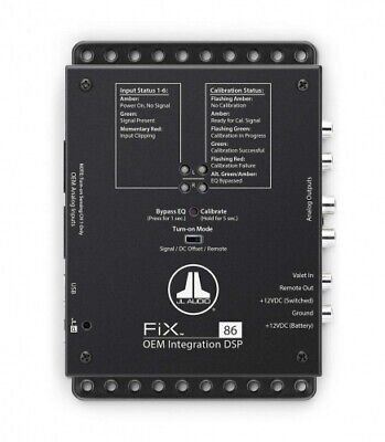 JL Audio FIX 86 8-Kanal DSP Prozessor OEM Equalizer Hi Level Input 6 Cinch Out