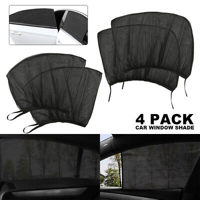 4Pcs Auto Sun Shade Front+Rear Window Screen Cover Sunshade Protector For Car