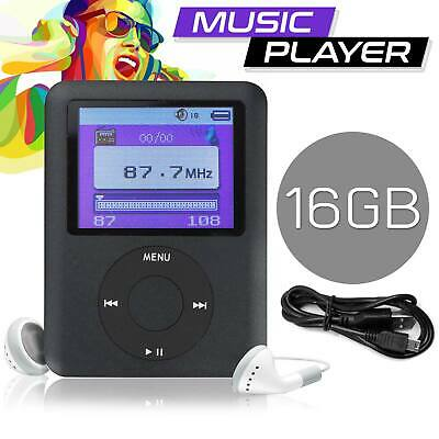 New 16GB MP3 MP4 Music Media Video Player Slim 1.8in LCD FM Radio UK Stock