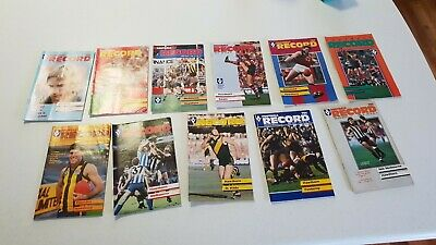 Football record VFL 1985 VOLUME 74 JOB LOT SET AFL AUSSIE RULES FOOTY collection