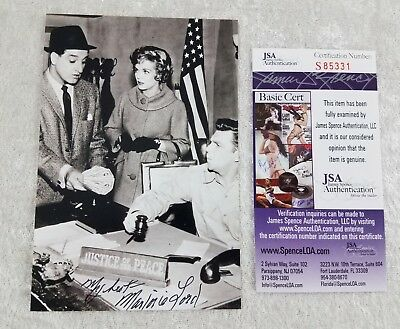 Marjorie Lord Signed Autograph 4X6 Photo JSA Authentication Andy Griffith Show