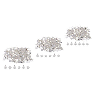 600x Earring Stud Post with Flat Pad Silver Plated Jewelry Findings 6 8 10mm