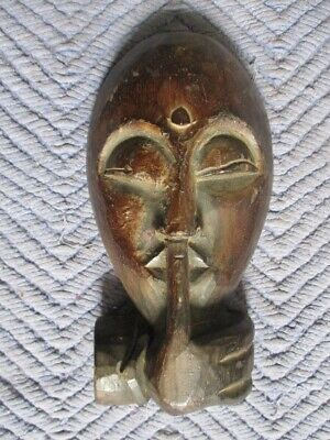 Antique AFRICAN TRIBAL CARVED MASK