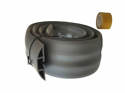Floor Cable Duct Flexible 1.83m Adhesive Grey