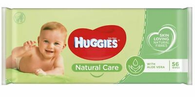 HUGGIES BABY WIPES NATURAL CARE WITH ALOE VERA 56ct (4 PACKS 56ct each pack)