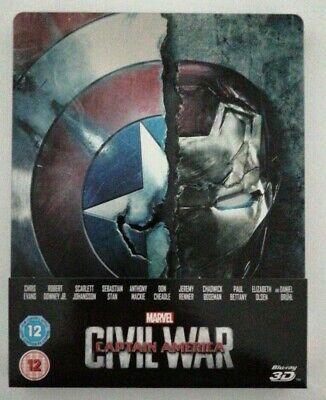 Captain America Civil War - 3D & 2D Bluray Steelbook - USED