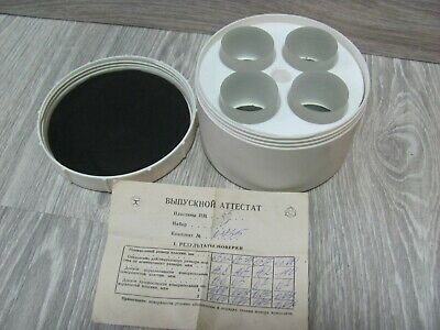 NEW! USSR Glass Optical Flat Parallel Set 65 mm to testing micrometer 50-75 mm
