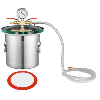 2 Gallon Stainless Steel Vacuum Chamber Degassing Urethanes Silicone Epoxies