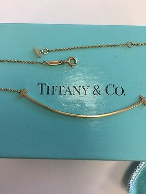 01121ce0b TIFFANY & CO T Smile Pendant Necklace 18Kt (750) White Gold ...