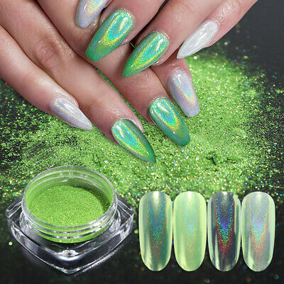 DIY Manicure Nail Mirror Glitter Dipping Pigment Holographic Laser Nail Powder