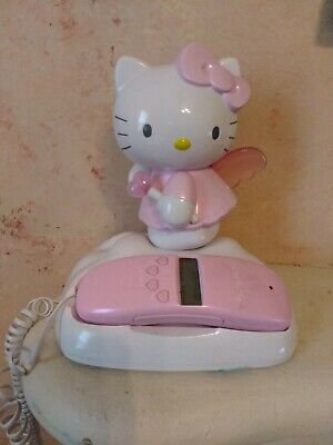 5d9319a48 Hello Kitty Telephone Phone Landline ANGEL HK210 with Caller ID Light Up  Wings