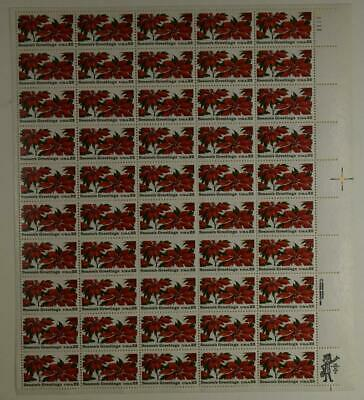 Us Scott 2166 Pane Of 50 Season Greeting Stamps 22 Cent Face Mnh