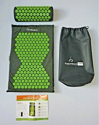 Supportiback Acupressure Mat Pad And Pillow Back Neck Muscle Tissue Pain Relief