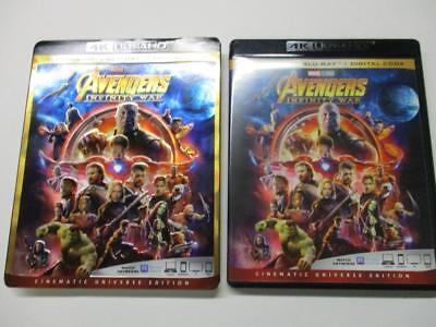 Avengers Infinity War (Blu-ray 4K UHD, 2018) 1-Disc Never Viewed No slip-cover
