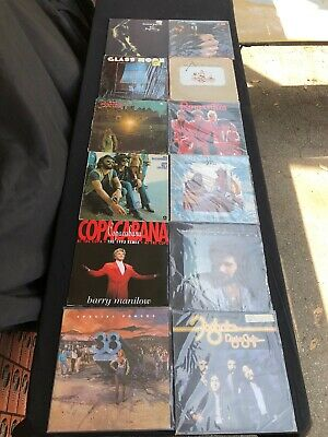 Lot Of (12) Classic Rock Lp Vinyl Records Various Artists Great Collection