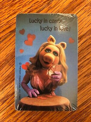 Vintage Hallmark Muppets Miss Piggy Deck of Playing Cards. Brand new, sealed!