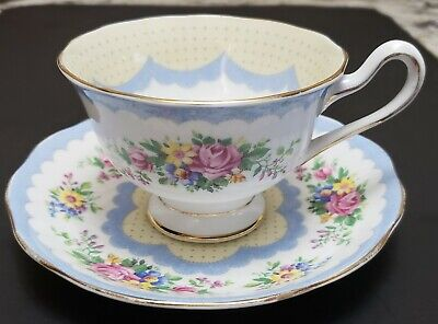 """Vintage Royal Albert Crown China """"Prudence"""" Cup And Saucer #2"""