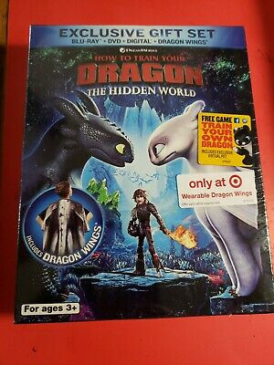 How to Train Your Dragon 3 Hidden World (Blu-ray, DVD, Digital) Target Exc Wings