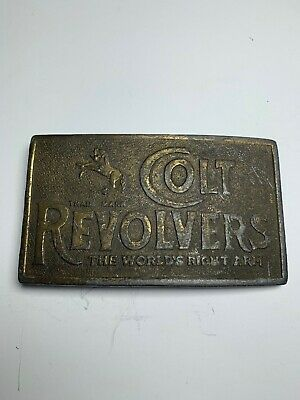 NOS 1980's Colt Revolvers Brass Belt Buckle