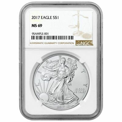 2017 American Silver Eagle NGC MS-69 Brown Label