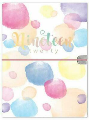 2019-2020 A5 Mid-Year Academic Week to View Paper Cover Diary (Coloured Smudges)