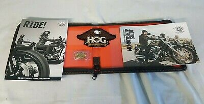 Hog Harley Davidson Owners Group Books Pin Badge Sew On Doc Wallet Free Uk P+P