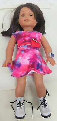 """American Girl Doll With Brunette Hair, Modern Clothes And Accessories 18"""""""