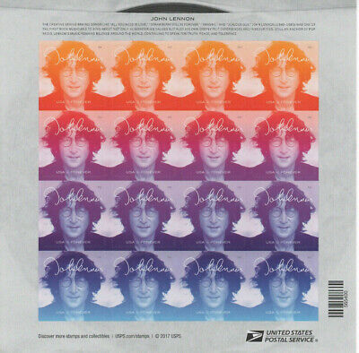 John Lennon USPS 2018 Forever Stamps Sheet of 16 Stamps BRAND NEW Music Icons