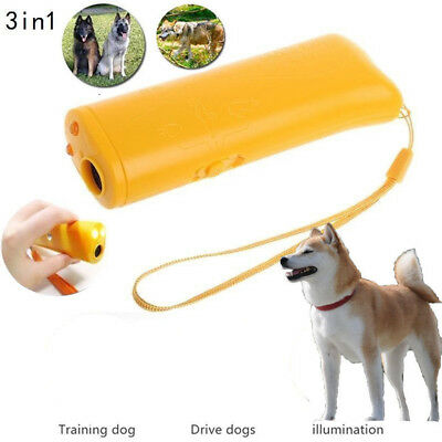 Portable Ultrasonic Repeller Control LED Device Train Dog Anti Bark Stop Barking