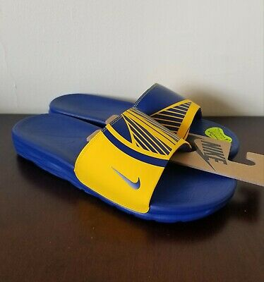 sports shoes acbf3 e4981 Nike Benassi Solarsoft NBA Golden State Warriors Slide Sandal Sz 11 917551- 701