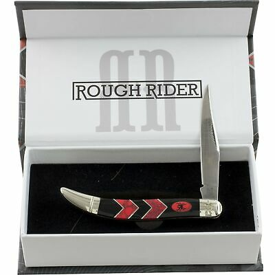 Rough Rider Black Widow Spider Red Coral Toothpick Pocket Knife RR1672