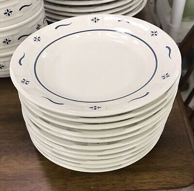Longaberger Pottery -  Woven Traditions Classic Blue Pattern Small/Saucers Plate