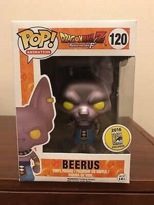 Funko Pop! Animation #120 Dragon Ball Z 2016 SDCC Exclusive Metallic Beerus