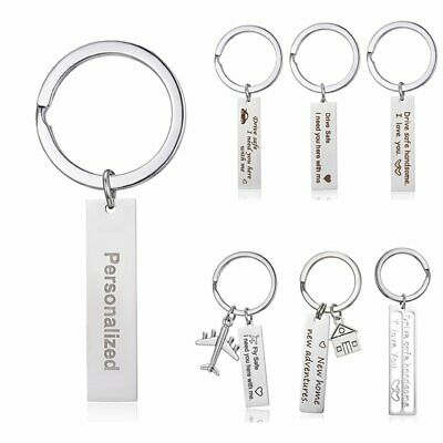 Stainless Steel Drive Safe Keyring Personalized Name Keychain Key Chain Gifts