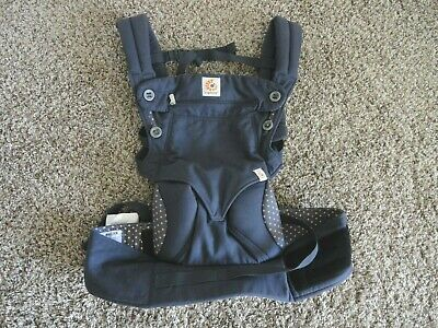 ERGO BABY FOUR POSITION 360 DUSTY BLUE BABY CARRIER BC360ABLU COTTON nice