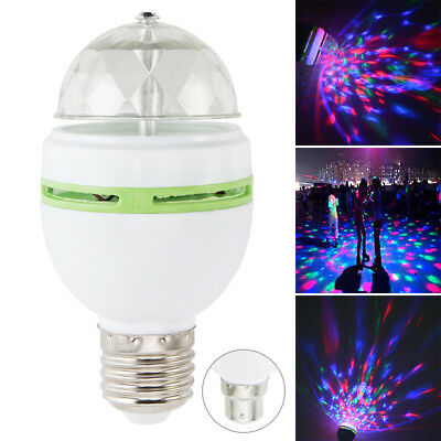 Party Home Colorful Lighting Lamp Disco RGB LED Bulb USB 3W Rotating Light A