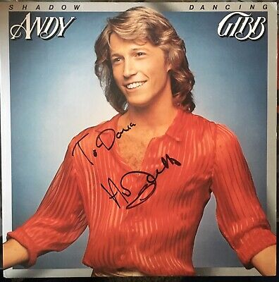 Andy Gibb signed Shadow Dancing  Album