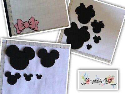Minnie Mouse Style Head Silhouette Die Cut x 12 - card, scrap, embellish, topper