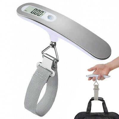 50KG Portable Digital Travel Handheld Luggage Weighing Scales Suitcase Bag AU