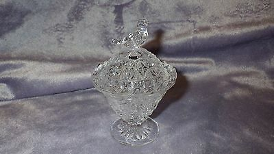 Crystal Round Trinket Box with Lid in The Byrdes Collection by Hofbauer