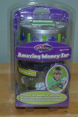 Brand NEW YouNiverse Electronic Counting Amazing Money Jar Piggy Bank