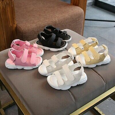 Children Toddler Kids Baby Girls Solid Sport Beach Sneaker Sandals Casual Shoes